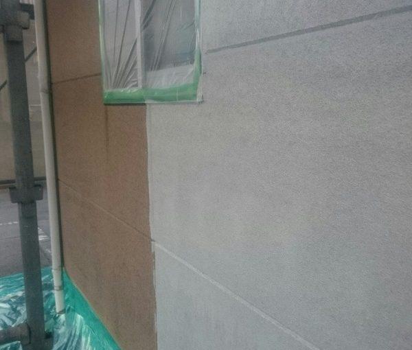 埼玉県久喜市 外壁塗装 下地処理 無機系塗料 ダイヤスーパーセランフレックス