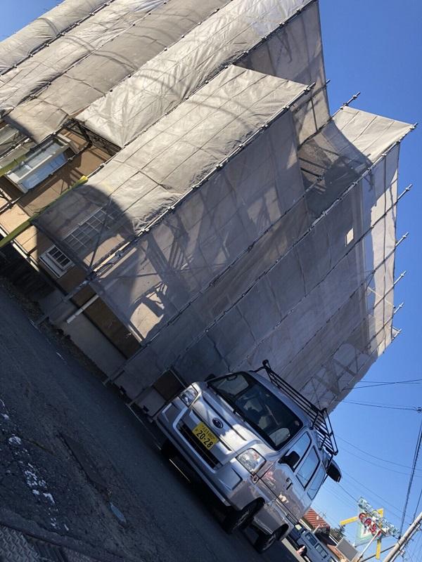 埼玉県久喜市 外壁塗装 近隣の方へのご挨拶 仮説足場の設置
