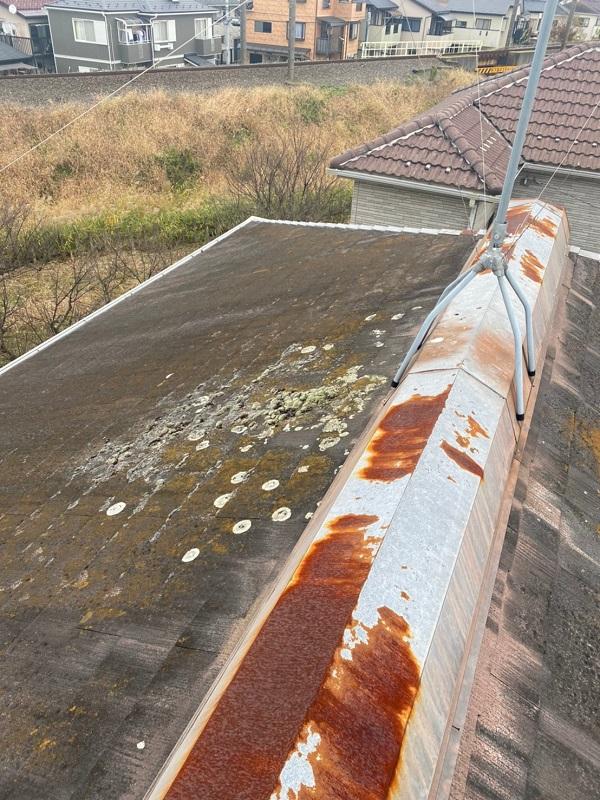 埼玉県春日部市 屋根カバー工法・外壁塗装 施工前の状態 無料調査 (5)