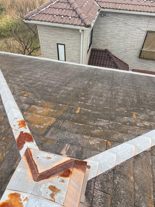 埼玉県春日部市 屋根カバー工法・外壁塗装 施工前の状態 無料調査 (3)