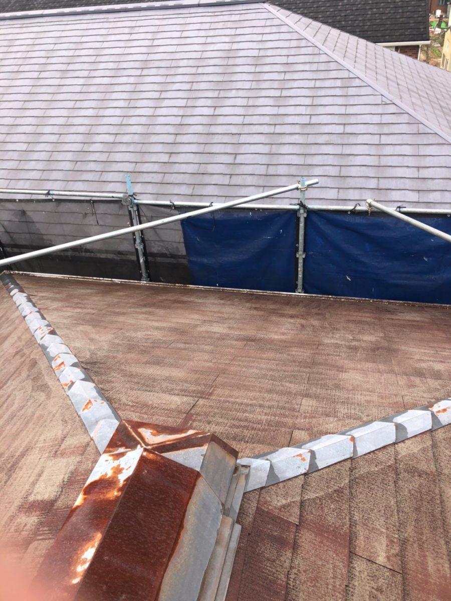 埼玉県春日部市 屋根カバー工法・外壁塗装 屋根カバー工法とは 足場設置~高圧洗浄 (7)