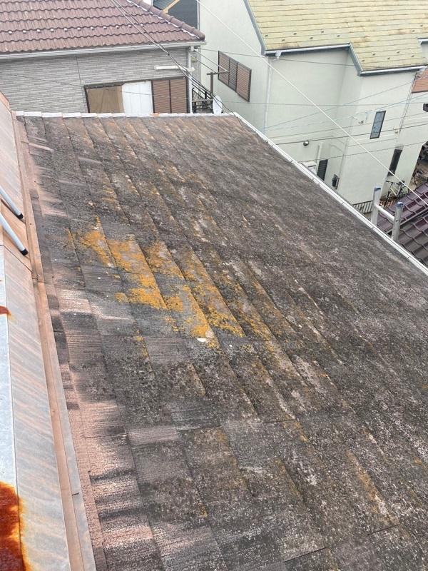埼玉県春日部市 屋根カバー工法・外壁塗装 施工前の状態 無料調査 (4)