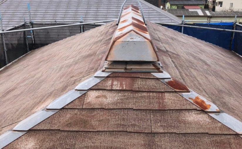 埼玉県春日部市 屋根カバー工法・外壁塗装 屋根カバー工法とは 足場設置~高圧洗浄 (8)