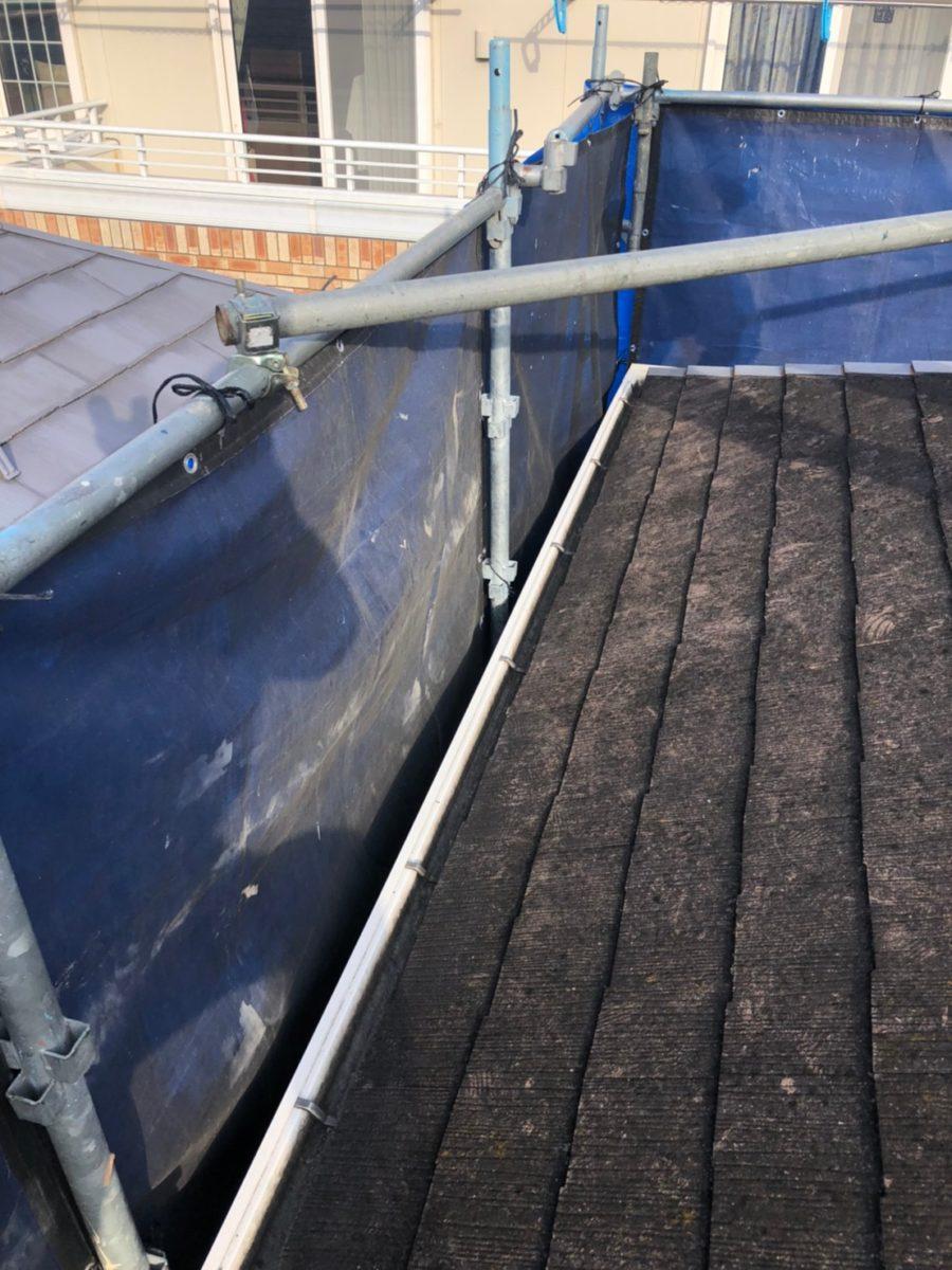 埼玉県春日部市 屋根カバー工法・外壁塗装 屋根カバー工法とは 足場設置~高圧洗浄 (6)