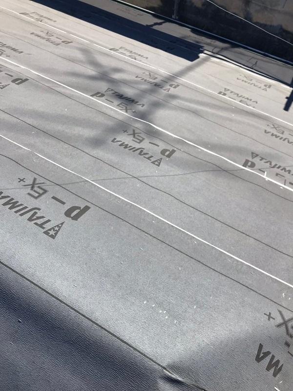 埼玉県春日部市 M様邸 屋根カバー工法・外壁塗装・付帯部塗装 既存部材撤去 野地板・ルーフィング張り (9)