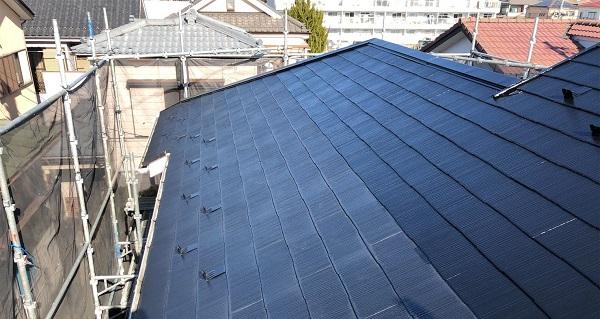 埼玉県越谷市 S様邸 外壁塗装・屋根塗装・付帯部塗装 スレート屋根 ファインパーフェクトベスト (5)