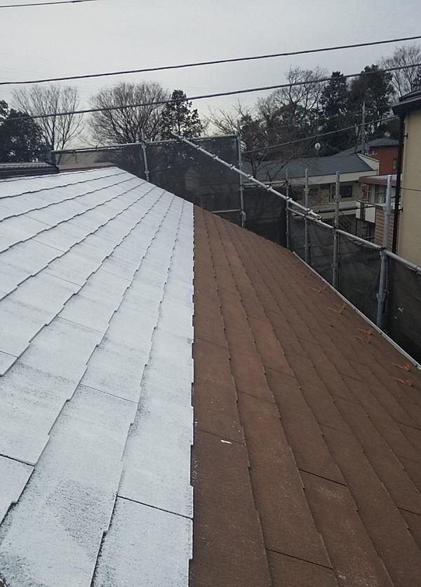 埼玉県川口市 K様邸 屋根塗装 外壁塗装 屋根用高日射反射率塗料 SPパワーサーモフッ素 (4)