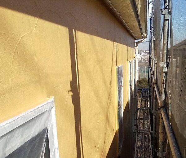埼玉県川口市 K様邸 屋根塗装 外壁塗装 モルタル外壁の塗装 水系ファインコートフッ素 (5)