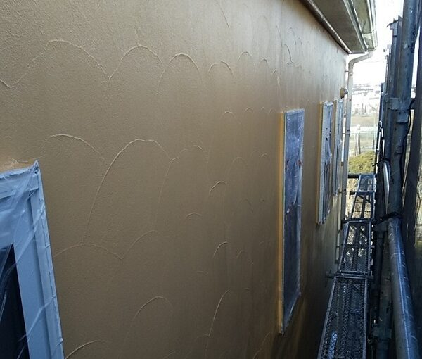 埼玉県川口市 K様邸 屋根塗装 外壁塗装 モルタル外壁の塗装 水系ファインコートフッ素 (1)