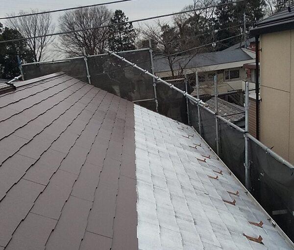 埼玉県川口市 K様邸 屋根塗装 外壁塗装 屋根用高日射反射率塗料 SPパワーサーモフッ素 (2)