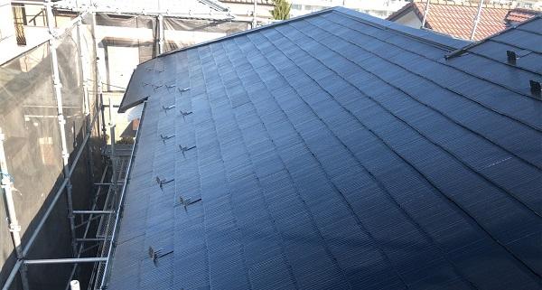 埼玉県越谷市 S様邸 外壁塗装・屋根塗装・付帯部塗装 スレート屋根 ファインパーフェクトベスト (1)