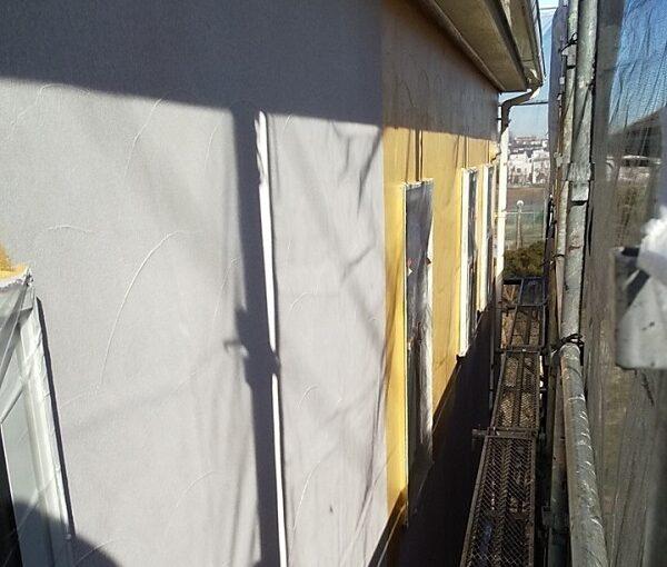 埼玉県川口市 K様邸 屋根塗装 外壁塗装 モルタル外壁の塗装 水系ファインコートフッ素 (3)