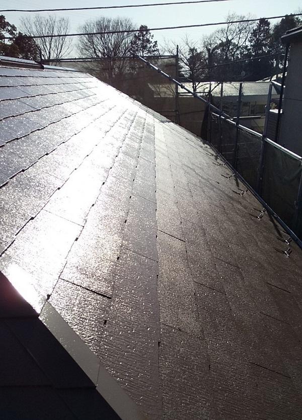 埼玉県川口市 K様邸 屋根塗装 外壁塗装 屋根用高日射反射率塗料 SPパワーサーモフッ素 (1)