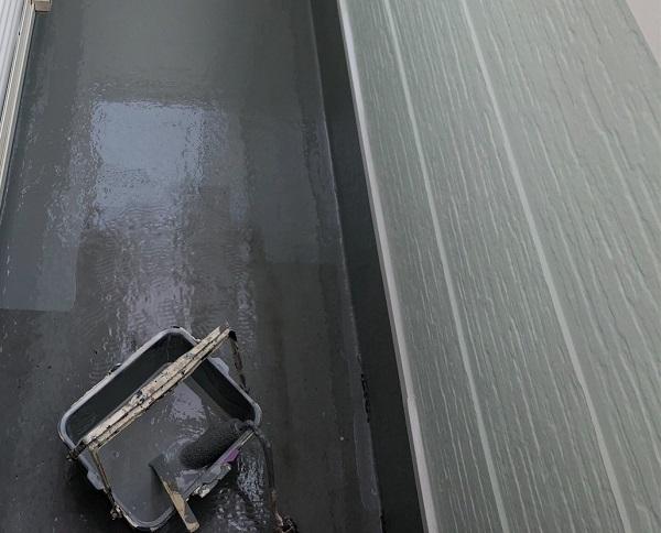 埼玉県越谷市 S様邸 外壁塗装・屋根塗装・付帯部塗装 ベランダ防水工事 ウレタン防水 密着工法 (3)