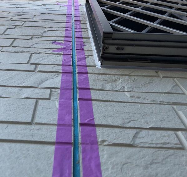 埼玉県上尾市 M様邸 外壁塗装 屋根塗装 シーリング(コーキング)工事 ボードの継ぎ目 棟板金の釘の補強 (1)