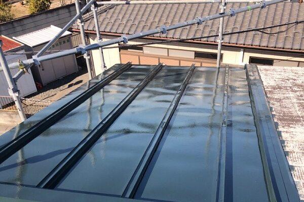 埼玉県鴻巣市 F様邸 屋根塗装・屋根カバー工法・外壁塗装 金属屋根塗装 菊水化学工業 SPパワーサーモフッ素 (6)