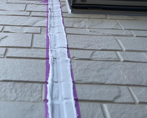 埼玉県上尾市 M様邸 外壁塗装 屋根塗装 シーリング(コーキング)工事 ボードの継ぎ目 棟板金の釘の補強 (10)