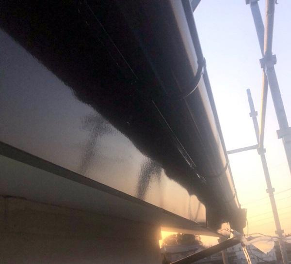埼玉県鴻巣市 F様邸 屋根塗装・屋根カバー工法・外壁塗装 鼻隠し・破風板・雨樋塗装 (6)