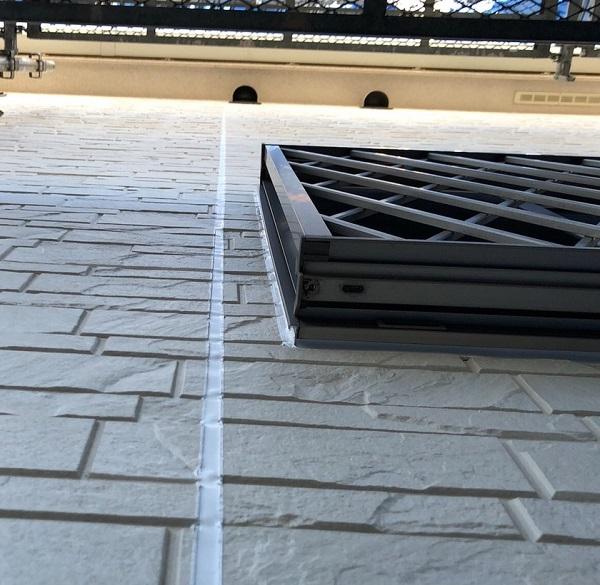 埼玉県上尾市 M様邸 外壁塗装 屋根塗装 シーリング(コーキング)工事 ボードの継ぎ目 棟板金の釘の補強 (6)