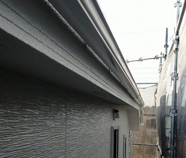 埼玉県久喜市 H様邸 屋根塗装・外壁塗装・付帯部塗装 水切り、雨樋塗装 (9)