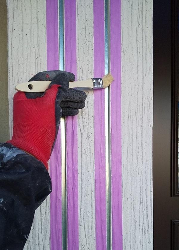 埼玉県久喜市 H様邸 屋根塗装・外壁塗装・付帯部塗装 シーリング打ち替え工事 写真付き工程 (9)