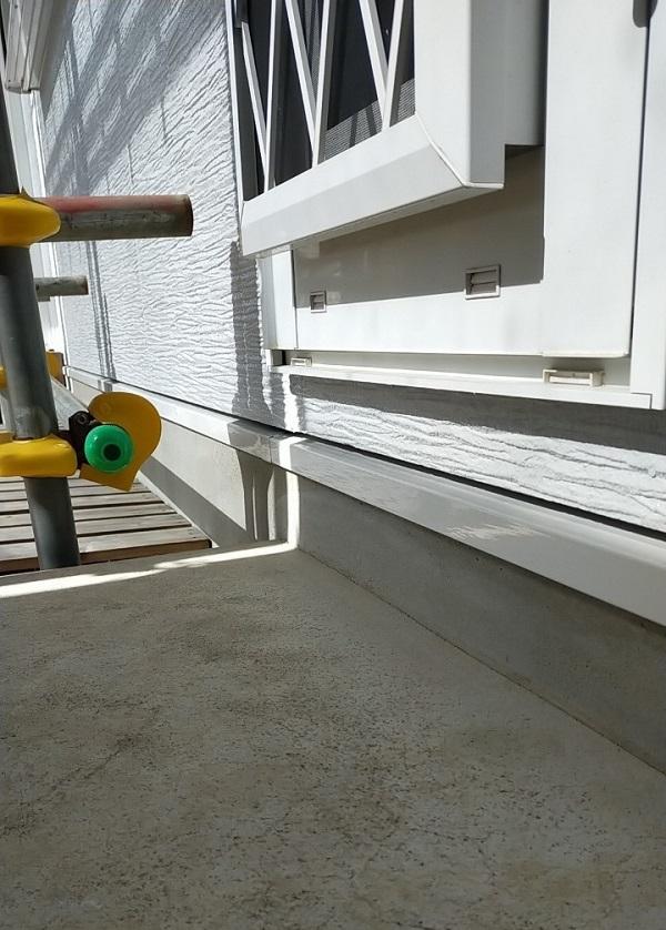 埼玉県久喜市 H様邸 屋根塗装・外壁塗装・付帯部塗装 水切り、雨樋塗装 (6)