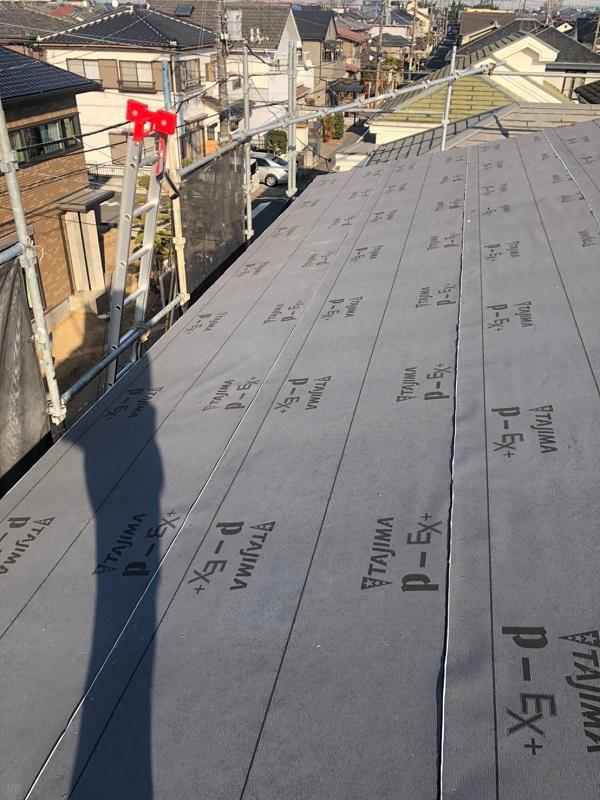 埼玉県鴻巣市 F様邸 屋根塗装・屋根葺き替え工事・外壁塗装 アイジールーフ スーパーガルテクト 葺き替え工事の工程 (9)