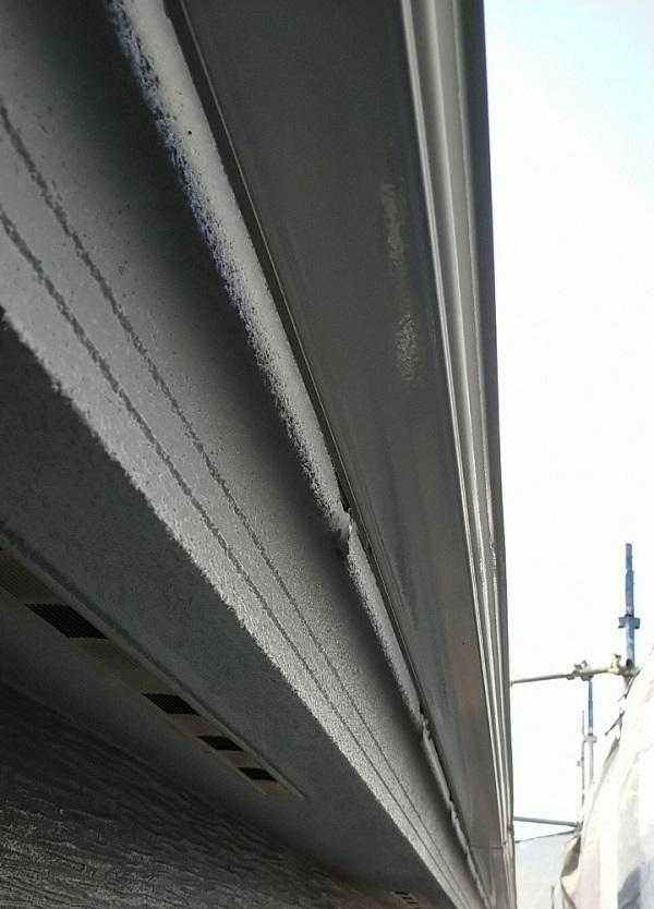 埼玉県久喜市 H様邸 屋根塗装・外壁塗装・付帯部塗装 水切り、雨樋塗装 (1)
