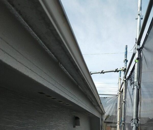 埼玉県久喜市 H様邸 屋根塗装・外壁塗装・付帯部塗装 水切り、雨樋塗装 (5)