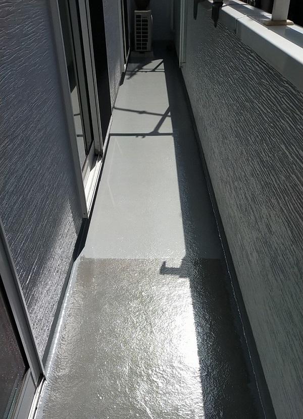 埼玉県久喜市 H様邸 屋根塗装・外壁塗装・付帯部塗装 ベランダ防水 トップコート塗装 (1)