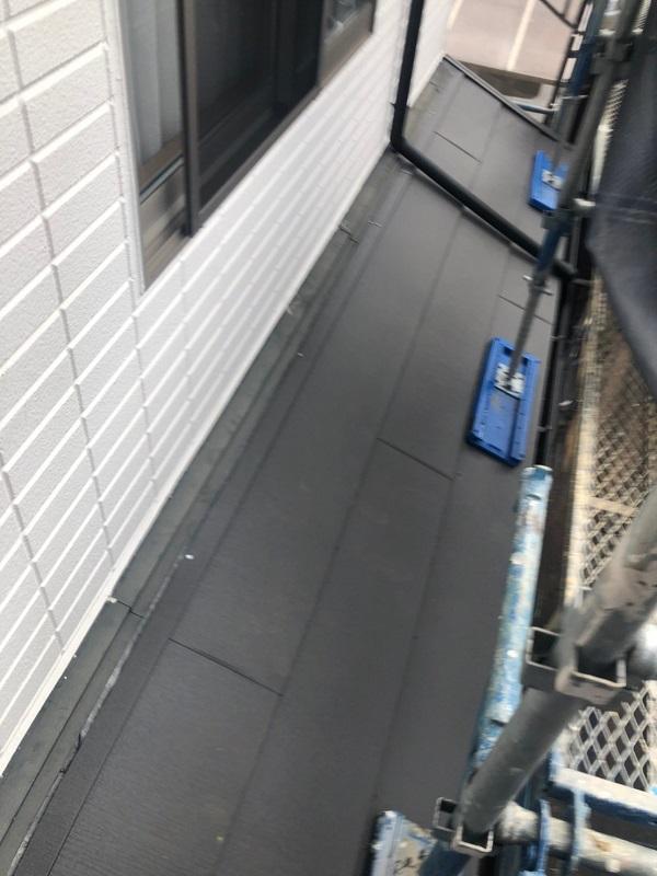 千葉県市川市 屋根葺き替え工事 防水シート(ルーフィング)張り 屋根材設置 ガルバリウム鋼板 (10)