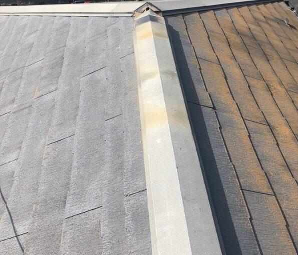 千葉県市川市 屋根葺き替え工事 既存屋根化粧スレート屋根 屋根材撤去 (1)