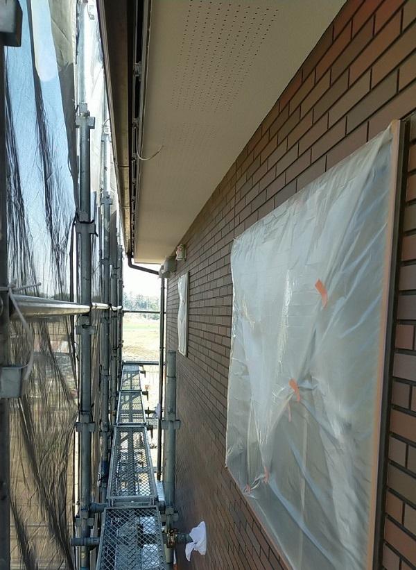 茨城県古河市 Y様邸 外壁塗装・付帯部塗装 外壁クリアー塗装 日本ペイント ピュアライド UVプロテクト 4Fクリヤー (5)