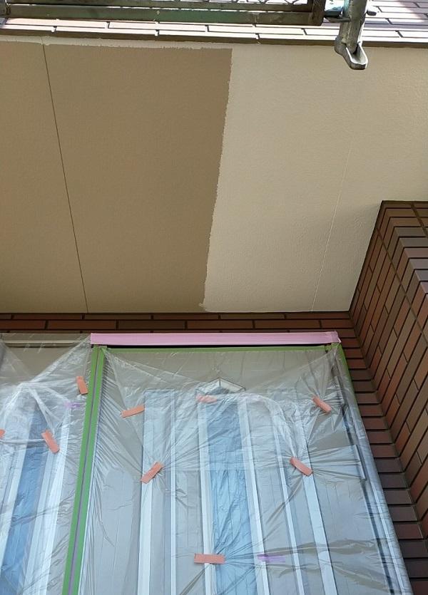 茨城県古河市 Y様邸 外壁塗装・付帯部塗装 軒天塗装 軒天の色 (1)