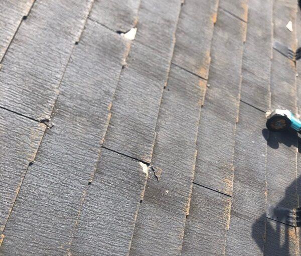 千葉県市川市 屋根葺き替え工事 既存屋根化粧スレート屋根 屋根材撤去 (3)