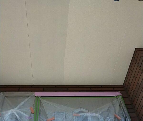 茨城県古河市 Y様邸 外壁塗装・付帯部塗装 軒天塗装 軒天の色 (2)