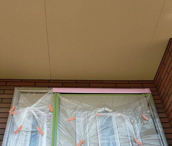 茨城県古河市 Y様邸 外壁塗装・付帯部塗装 軒天塗装 軒天の色 (5)