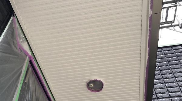 埼玉県さいたま市岩槻区 I様邸 外壁塗装・付帯部塗装・防水工事 雨樋、軒天塗装 ロックペイント ユメロック2液 (4)