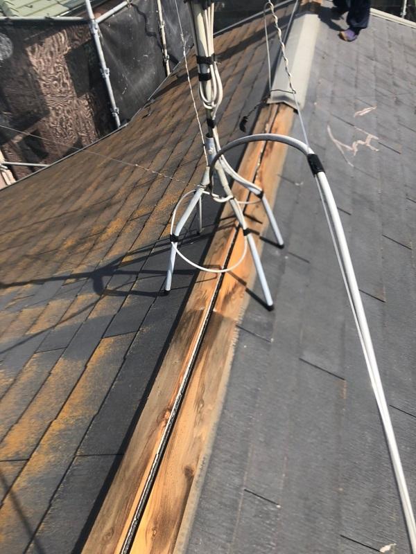 千葉県市川市 屋根葺き替え工事 屋根材撤去 工程 (1)