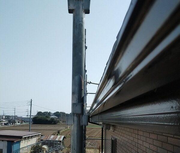 茨城県古河市 Y様邸 外壁塗装・付帯部塗装 破風、雨樋塗装 塗膜の劣化を放置すると (9)