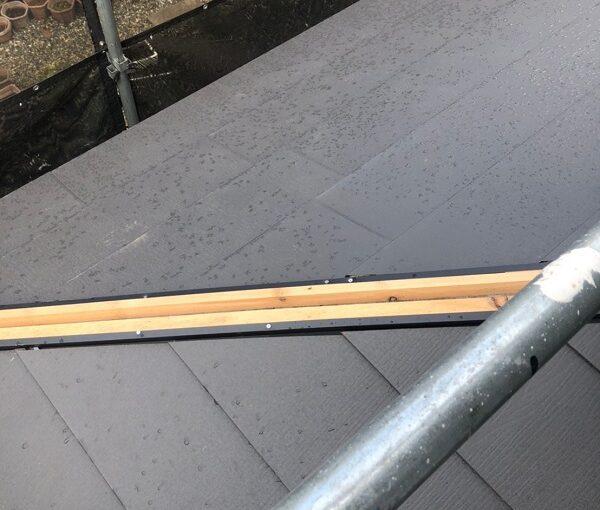 千葉県市川市 屋根葺き替え工事 防水シート(ルーフィング)張り 屋根材設置 ガルバリウム鋼板2 (2)