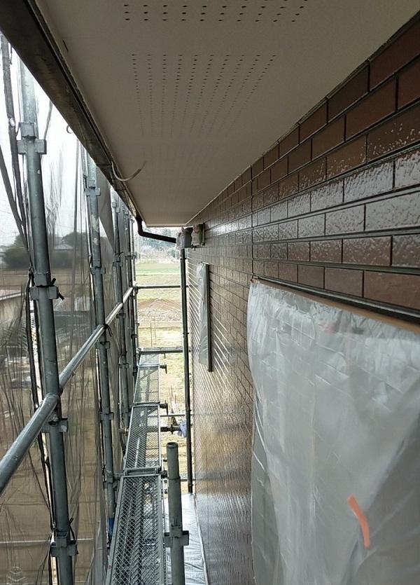 茨城県古河市 Y様邸 外壁塗装・付帯部塗装 外壁クリアー塗装 日本ペイント ピュアライド UVプロテクト 4Fクリヤー (12)