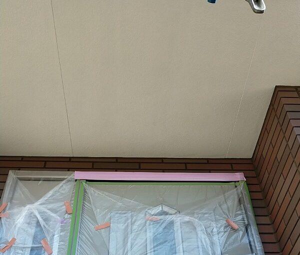 茨城県古河市 Y様邸 外壁塗装・付帯部塗装 軒天塗装 軒天の色 (3)