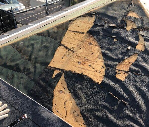 千葉県市川市 屋根葺き替え工事 屋根材撤去 工程 (7)