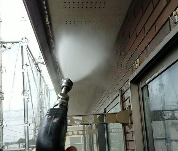 茨城県古河市 Y様邸 外壁塗装・付帯部塗装 下地処理 高圧洗浄 (5)