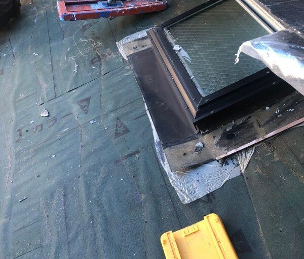 千葉県市川市 屋根葺き替え工事 屋根材撤去 工程 (4)