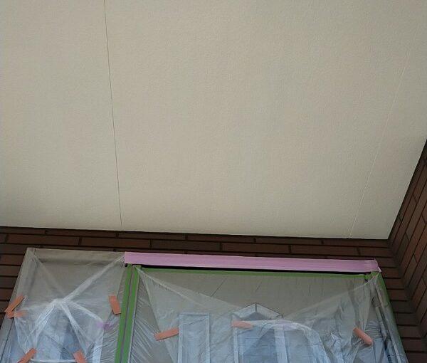 茨城県古河市 Y様邸 外壁塗装・付帯部塗装 軒天塗装 軒天の色 (6)