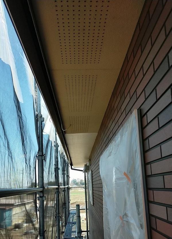 茨城県古河市 Y様邸 外壁塗装・付帯部塗装 軒天塗装 軒天の色 (7)