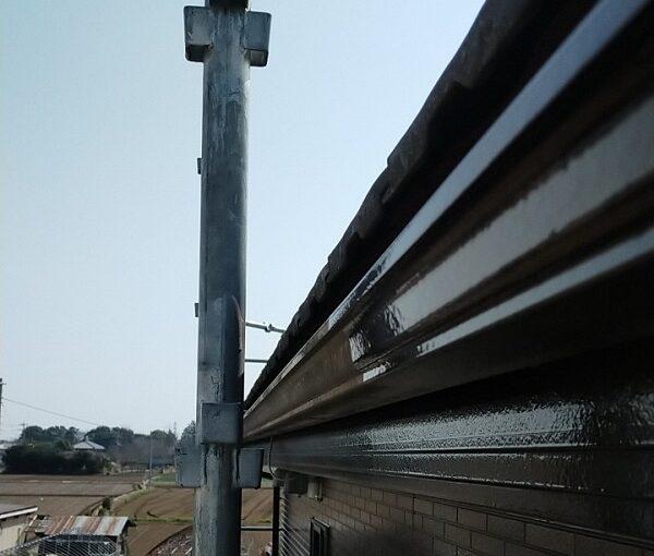 茨城県古河市 Y様邸 外壁塗装・付帯部塗装 破風、雨樋塗装 塗膜の劣化を放置すると (5)