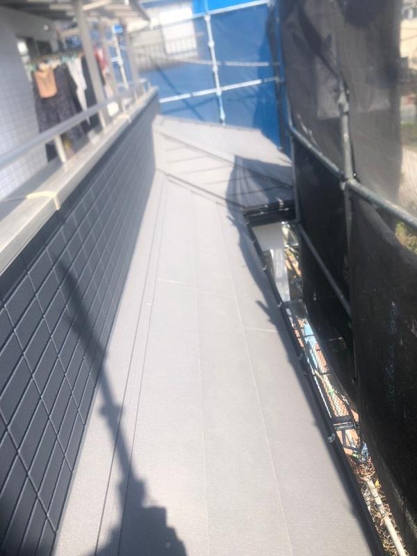 千葉県市川市 屋根葺き替え工事 防水シート(ルーフィング)張り 屋根材設置 ガルバリウム鋼板 (11)